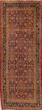 Vintage 11 ft Runner All-Over Heriz Serapi Oriental Wool Rug 4' x 11'