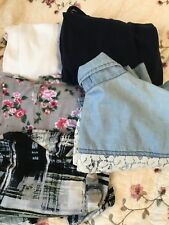 Women's Clothing lot Of 5 size med & SmallTops/Blouses Mixed Brands Lightly Worn