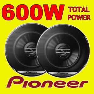 PIONEER 600W TOTAL 2-WAY 6.5 INCH 16.5cm CAR DOOR/SHELF COAXIAL SPEAKERS PAIR