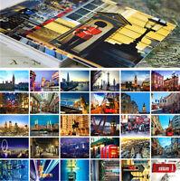 LOTS 30PCS London UK City View Postcards Street Travel Views for Postcrossing