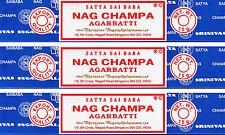 3 Boxes 15gm Each Nag Champa Incense Satya Sai Baba 2016 Series 45 Grams Total