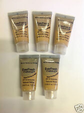 5 X TRAVEL SIZE Maybelline EverFresh Makeup Foundation ( NATURAL BEIGE ) NEW.