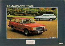 Mazda 929 L Estate 1980-82 UK Market Foldout Sales Brochure