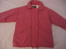 Woolrich Pink Mauve Zip up 2 Pockeks Coat  Jacket  Womens L Large Made USA