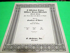 1949 I WALKED TODAY WHERE JESUS WALKED SHEET MUSIC SACRED SONG VOCAL PIANO ORGAN