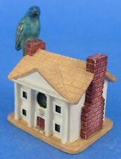 Lenox Miniature Birdhouse Thimble Indigo Bunting Bird