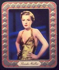 Renate Müller 1936 Garbaty Passion Film Star Embossed Cigarette Card #170