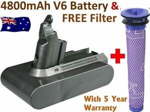 Battery For Dyson V6 DC58 DC59 DC61 DC62 Animal DC72 SV03 SV09 SV06 + FILTER OZ