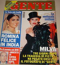 GENTE=1996/19=MILVA=ROMINA POWER=FRANCO AMMURRI SUSAN SARANDON=PADRE PIO=
