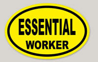 Essential Worker sticker /HARDHAT/TOOLBOX Sticker bright safety yellow