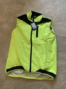 NEW ARSUXED WOMEN'S CYCLING HIGH VISIBILITY TOP. GILET LUMINOUS YELLOW. RUNNING