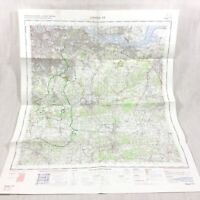 1970 Vintage Militare Mappa Di Sud East London Bromley Greenwich Tonbridge