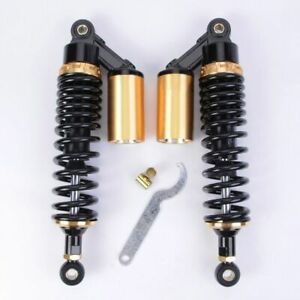 """GEE Air Shock Absorbers 13"""" 330mm Round Ends Universal Motorcycle For Sport Bike"""