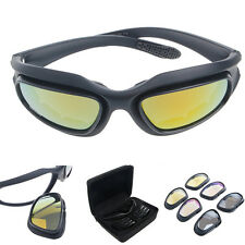 Polarized Motorcycle Lens Sun Glasses Riding Cycling Biker Sports Wrap Windproof