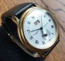 Men's Genuine Frederique Constant Automatic Gmt Gold Leather Roman FC-325X3P5/6