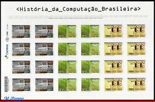 18-08 BRAZIL 2018 HISTORY OF BRAZILIAN COMPUTING, COMPUTER, SCIENCE, SHEET MNH