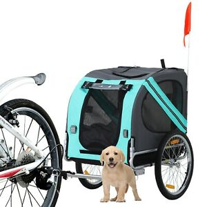 Dog Bicycle Trailer Bike Carrier Water Resistant Outdoor Up to 30kg On Off Road