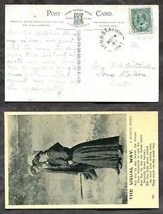 IONA STATION Ont Elgin 1907 Split Ring on Fishing Romance Postcard  (inv:p01989)