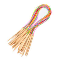 18 Set 80CM Smooth Bamboo Circular Knitting Needles Pins Size 2.0mm-10mm、New