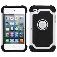 Hybrid Defender Slim Armor Hard Case Cover Skin for Apple iPod Touch 4 4th Gen
