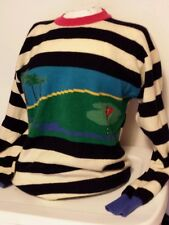 Vintage Pringle Sports of Scotland Women's 100% Wool Golf Ugly Sweater Size XS