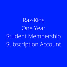 Raz-Kids + Reading A-Z Student Classroom One Year Subscription Account