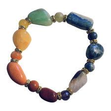 7 Chakra Armband mit Glitzersteinen