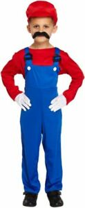 Mario and Luigi Green and Red  Boys Fancy Dress Party Outfits