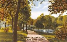 TECHNY, IL Illinois  ST MARY'S MISSION HOUSE~Walk in the Park   c1910's Postcard