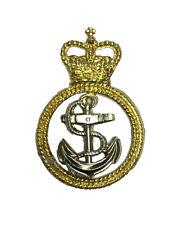 Officiel Royal Marine Petty Métal Béret Casquette Badge - Rn Hms Chapeau