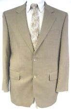 Paul Dione Men's Sport Coat Jacket Brown 100% Wool Two Button Size 40S 40 Short