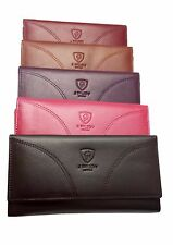 LADIES DESIGNER GENUINE SOFT REAL LEATHER WALLET CREDIT CARD HOLDER PURSE