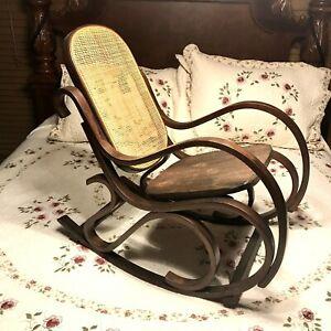 Vtg.Bentwood Rocking Chair Rocker Wood Cane MCM Children Size Thonet STYLE