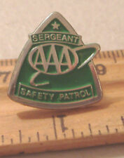 ~AAA SERGEANT SAFETY PATROL~TIE TAC PIN~