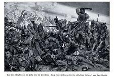 1914 * Das Attentat von Sarajewo * antique print