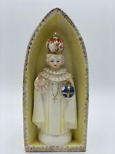 Vintage Catholic Jesus Infant of Prague CeramIc Statue Figure Shrine Planter