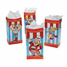 Circus Carnival Party Pack of 12 Big Top Lolly Treat Favour Popcorn Bags