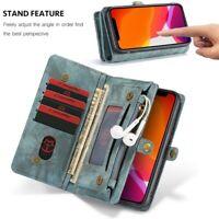 CASEME Zipper Closure Flip Card Wallet Phone Case Cover For iPhone 11 Pro Max