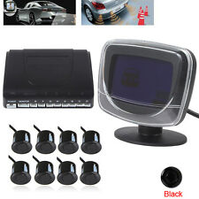 8 Parking Sensor LCD Display Car Reverse Front View Radar System Kit Sound Alert