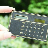 Useful 8 Digits Ultra Thin Mini Slim Credit Card Solar # Calculator Pocket Y3O4