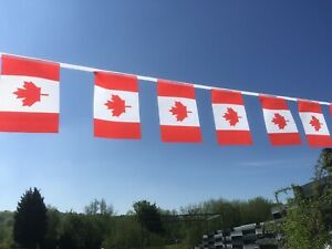 Canada Fabric Bunting - strong various lengths wholesale free 1st Class postage