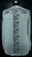CUTE FOREVER 21 WOMEN'S PLUS SIZE IVORY W/ LACE LONG SLEEVE KNIT TOP Sz 2X