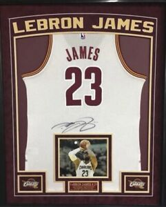 Autographed & Custom Framed Lebron James Authentic Cavaliers Away Jersey (UDA)