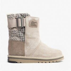 Sorel NEWBIE Ladies Suede Water Resistant Casual Durable Boots Silver Sage
