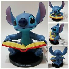 Disneyland Paris Exclusive Disney Stitch Reading Book Figurine Ornament Lilo NEW