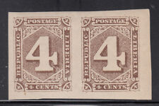 Liberia # 27a MINT Imperf Pair 1885 Numeral Issue