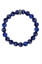 King Baby Studio 10mm Lapis Bead Bracelet 2 Size Fits 7-8in  Or 8-9in