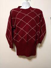 Shetlander Crazy Horse Womens Small Medium 100% Wool Sweater British Vintage