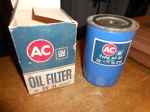 Vintage NOS Oil Filter AMC IH Jeep Studebaker Oldsmobile Pontiac AC FRAM PF31