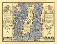 MANX  Isle of Man Replica PRINTED Full Size Copy of  Old John Speed map .1610